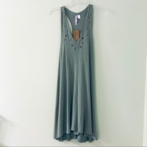 Francescas Olive Green Dress with Racerback